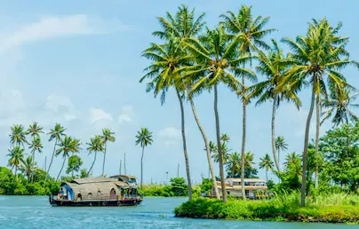 Houseboat on Kerala backwaters which makes this one of the best places to visit in Kerala