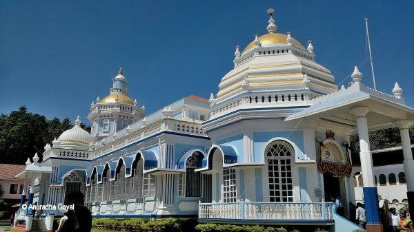 Mangeshi Temple depicting the culture and Traditional side of Goa. Temple for Hindus in Goa.