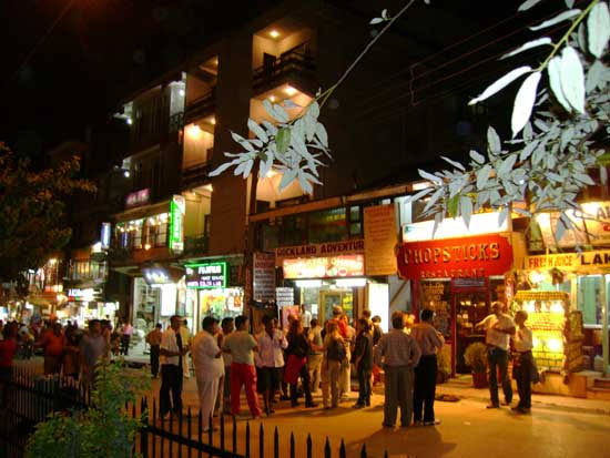 Shopping centre of Manali
