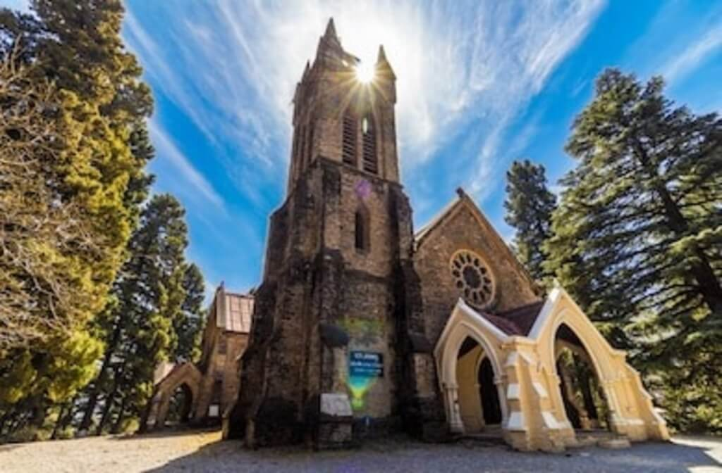 One of the top churches in Dharamshala