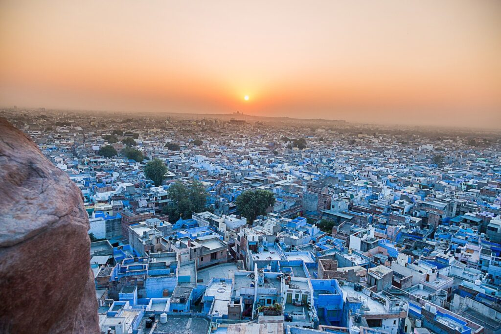 Blue city of Rajasthan. One of the top attractions in Rajasthan.