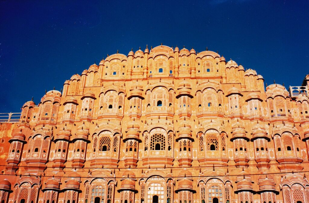 Hawa Mahal of Jaipur- As one of the best place in Rajasthan it attracts many tourists.