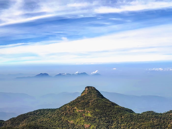 Adam's peak is top attraction in Sri Lanka.