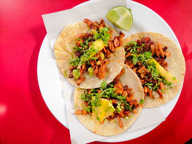 Tacos are one of the most famous food in Mexico.