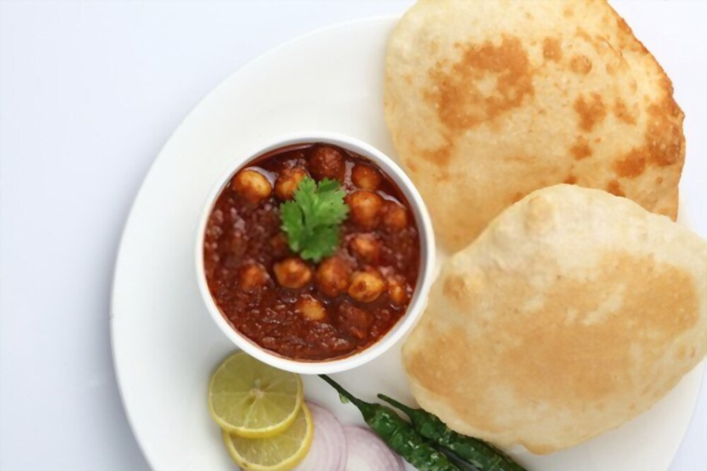 Cholle bhature is most famous dish of Delhi