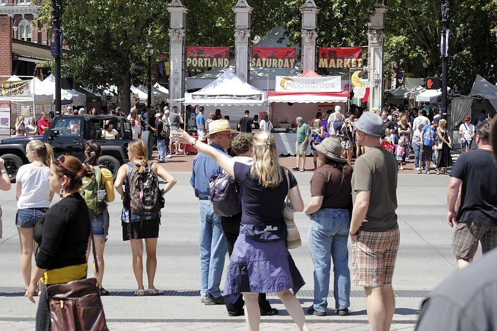 Saturday Market is one of the most famous market of Portland