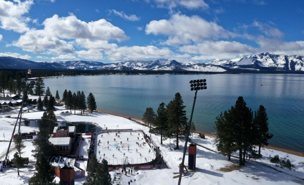 Lake Tahoe is best place to visit in California in winters.